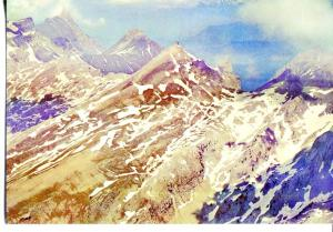 Postal 016639: ISABA Anso - Vista del pico de Petrechema y la Mesa de los 3 R...