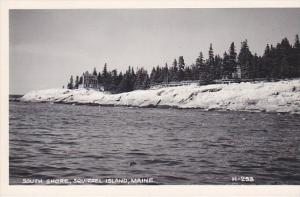 Maine Squirrel Island South Shore Real Photo RPPC