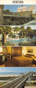 Panorama Style Postcard Vagabond Motor Hotel, Ventura, California, USA OS134