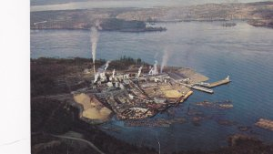 VANCOUVER ISLAND, B.C., Canada, 40-60s; Elk Falls pulp and paper mill and sawmil
