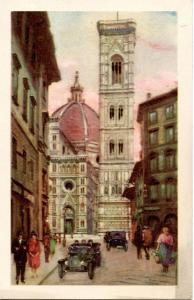 Italy - Florence, Cathedral & Bell Tower       *Artist Signed: A. Scrocchi