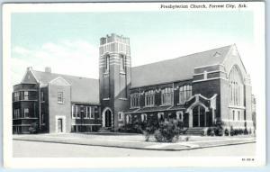 FORREST CITY, Arkansas  AR    PRESBYTERIAN CHURCH  ca 1920s-30s  Postcard