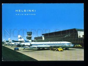 210115 FINLAND HELSINKI Airport Finnair planes old postcard