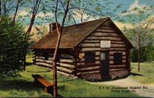 Pennsylvania Valley Forge Continental Hospital Hut Curteich