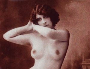 rc-119 -  Handmade B&W French Risque Nude Picture Postcard