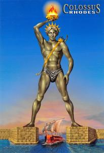 Greece Rhodes Postcard Colossus Statue 80B