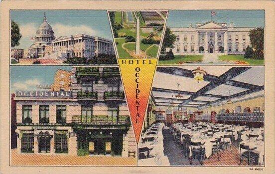 Hotel Occidental Washington DC 1942