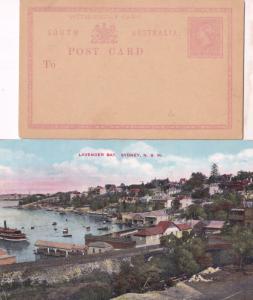 Lavender Bay Sydney Old Postcard & Australia Reply 2x Card