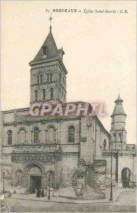 Postcard Old Bordeaux Church of Saint Seurin