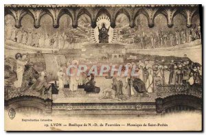 Postcard Old Lyon Basilica of Fourviere N D mosaic of Saint Pothinus