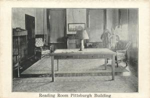 Pittsburgh Pennsylvania~Reading Room~Pittsburgh Building~1920s Postcard