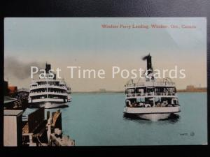 Vintage PC - Canada, Windsor Ont, Ferry Landing