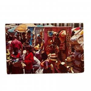 Nassau Bahamas Straw Market Postcard