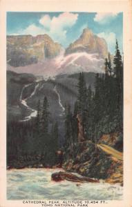 Cathedral Peak, Yoho National Park, Canada, Early Postcard, Unused