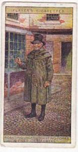player Vintage Cigarette Card Cries Of London No 25 Roasting Jacks Toasting F...