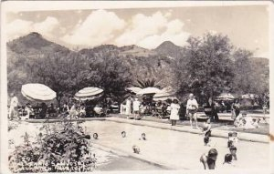 Mexico Navarro Balneario San Jose Purua Swimming Pool 1954 Real Photo