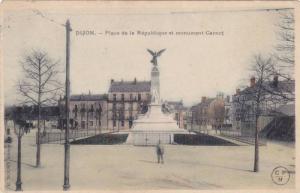 Place De La Republique Et Monument Carnot, Dijon (Cote d'Or), France, PU-1904