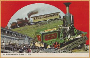 Mt. Washington Cog Railroad, Worlds first Cog Rwy., Mt Washington, New Hampshire