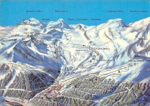 Switzerland Saas-Fee Map Mountain Egginer, Egginerjoch, Feiskinn