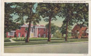 Beautiful Homes on East High Street, Union City, Pennsylvania, PU-1942