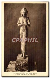 Old Postcard Sculptures Paris Louvre Egyptian Queen Karomania