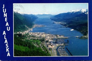 Alaska Juneau Aerial VIew Looking South 1985