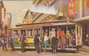 Trolleys Cable Car On Turntable San Francisco California 1967