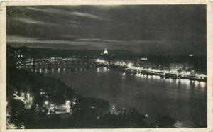 Hungary Budapest Danube by night