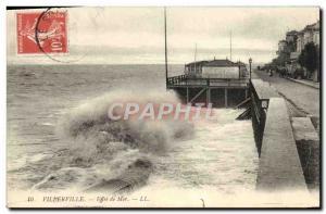 Postcard Old Villerville Effect Sea