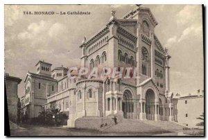 Old Postcard Monaco Cathedrale