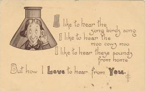 Fred Cavally Message Series Love to hear from You 1915