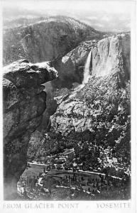 CA, Yosemite National Park, California, Glacier Point, RPPC