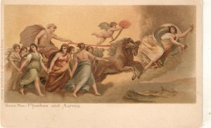 Guido Reni.Phoebus and Aurora. Horses Fine painting, vintage German PC