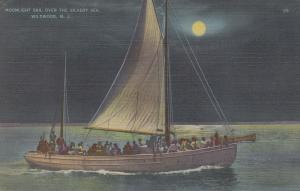 WILDWOOD , New Jersey, PU-1940; Moonlight Sail Over the Silvery Sea
