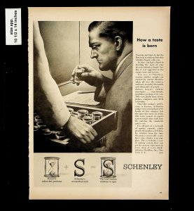1953 Schenley Whiskey Time Vintage Print Ad 015741