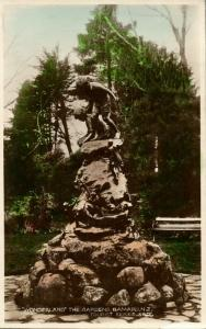 new zealand, OAMARU, Wonderland The Gardens (1930s) RPPC Postcard