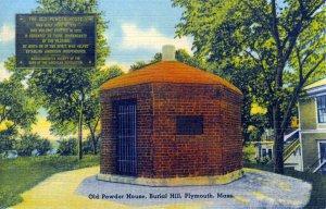 [ Linen ] US Massachusetts Plymouth - Old Powder House