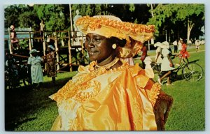 Postcard Greetings From Suriname c1960s kotto Missie Costume Woman X4