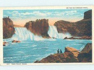 Pre-Chrome WATERFALL SCENE Twin Falls Idaho ID AG4319