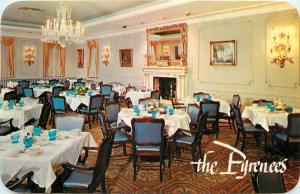 Skokie Illinois~The Pyrenees~Restaurant Interior~1950s  Postcard
