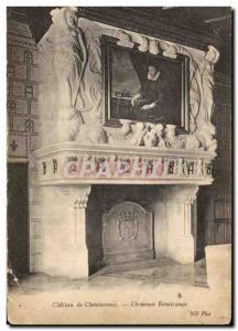 Old Postcard Chateau de Chenonceau Renaissance Fireplace