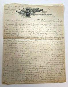 S Reese Machine & Tool Works Plymouth PA letterhead Paderewski essay Poland