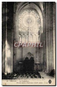 Troyes The Cathedral North Portal Old Postcard