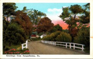 Pennsylvania Greetings From Susquehanna 1950 Curteich