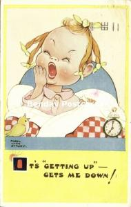 Artist Signed Mabel Lucie Attwell No. 1659, It's Getting Up Gets me Down! (1951)