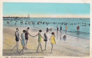 Bathing in Gulf of Mexico , Florida , 1910s