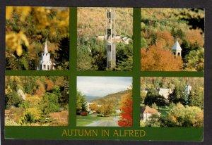 NY Autumn Alfred New York Postcard Church