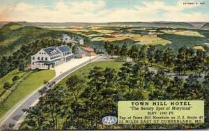Maryland Little Orleans Town Hill Motel Curteich