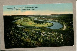 Postcard TN Chattanooga Moccasin Bend Lookout Battlefield Point c1915 2515N