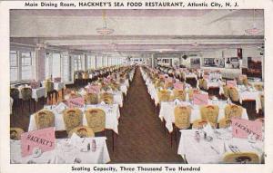 New Jersey Atlantic City Main Dining Room Hackneys Sea Food Restaurant